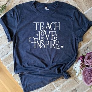 Tops - Teach Love Inspire graphic tee t-shirt New!